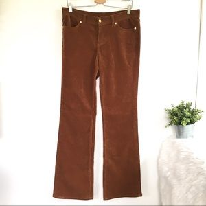 Tory Burch Brown Corduroy Pants